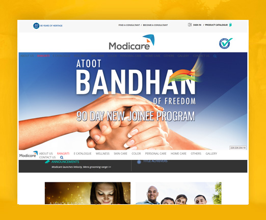 .net framework website modicare