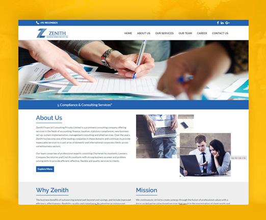 html5 website zenith