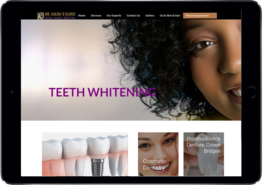 ipad-web-development-dental
