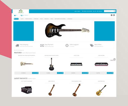 magento website musicnagri
