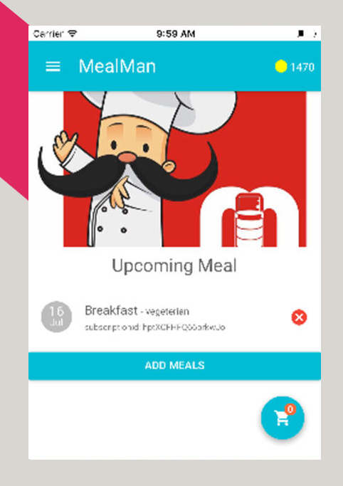 iphone application mealman