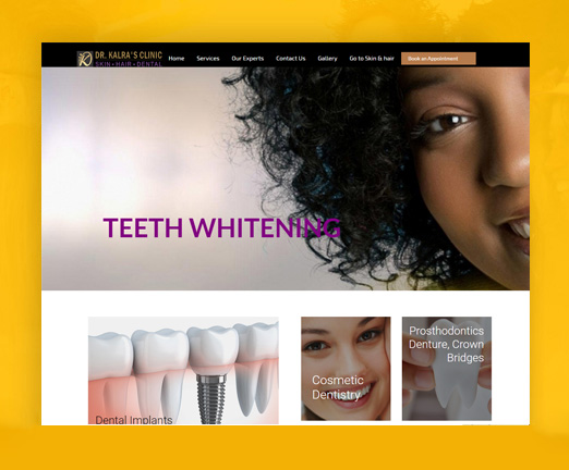 wordpress development dental clinic